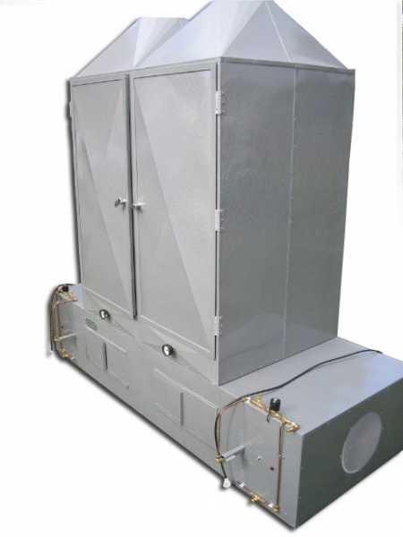 O desidratador modelo PD-40V foi criado para a desidratação de cogumelos Agaricus Blazei. Sua construção é robusta, em chapas metálicas de aço galvanizado e suas bandejas são construídas com chapas (telas) de alumínio expandidas, ou seja, não permitem a contaminação do produto.