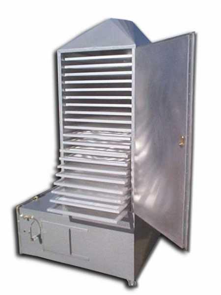 O desidratador modelo PD-20V foi criado para a desidratação de cogumelos Agaricus Blazei. O equipamento tem ventilador e sistema de aquecimento adequados, permitindo uma secagem uniforme e conferindo aos cogumelos secos uma coloração clara, conforme as exigências do mercado.